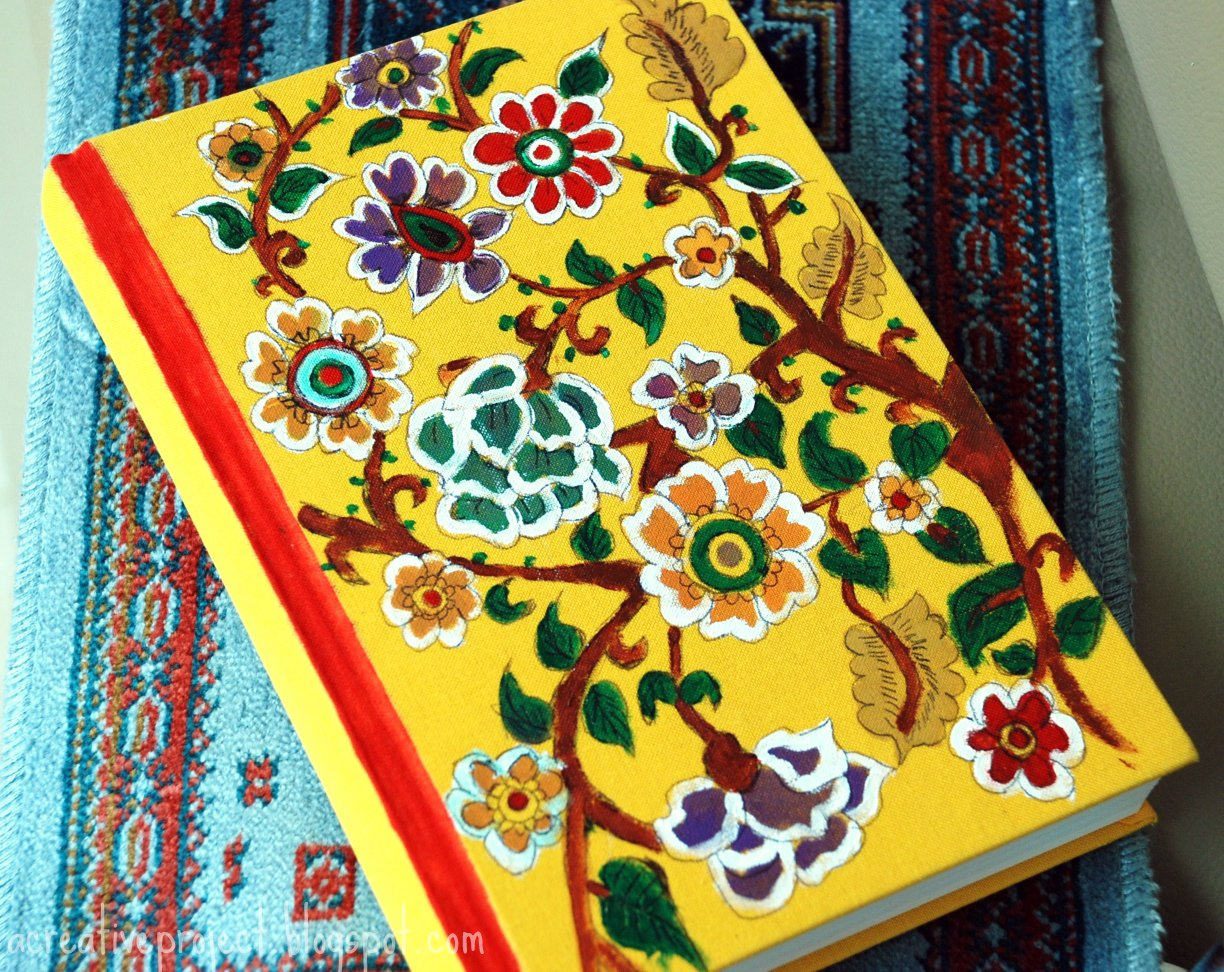 Book Cover Design Watercolor : A creative project madhubani painting on book cover