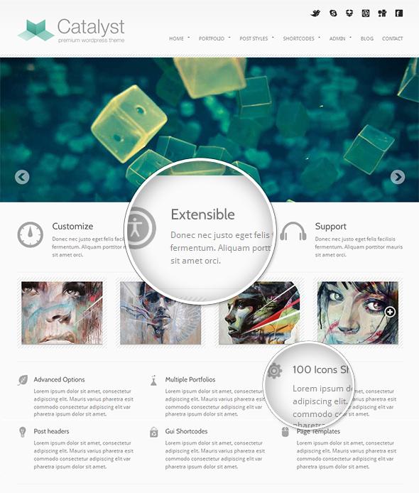 Catalyst Sleek and Modern WordPress Theme