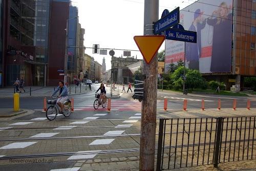 Przejazd na wprost przez skrzyżowanie, tylko dla rowerów