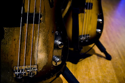 Sting's basses, photographed by Cornelia Andersson