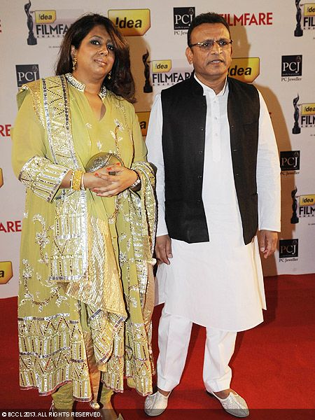 Anu Kapoor with wife Anupama during the 58th Idea Filmfare Awards 2013, held at Yash Raj Films Studios in Mumbai.Click here for:<br />  58th Idea Filmfare Awards