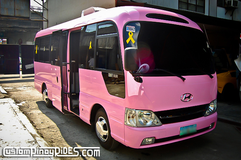 Kris aquino 39 s mobile home hyundai e county bus by atoy for Garage mj auto