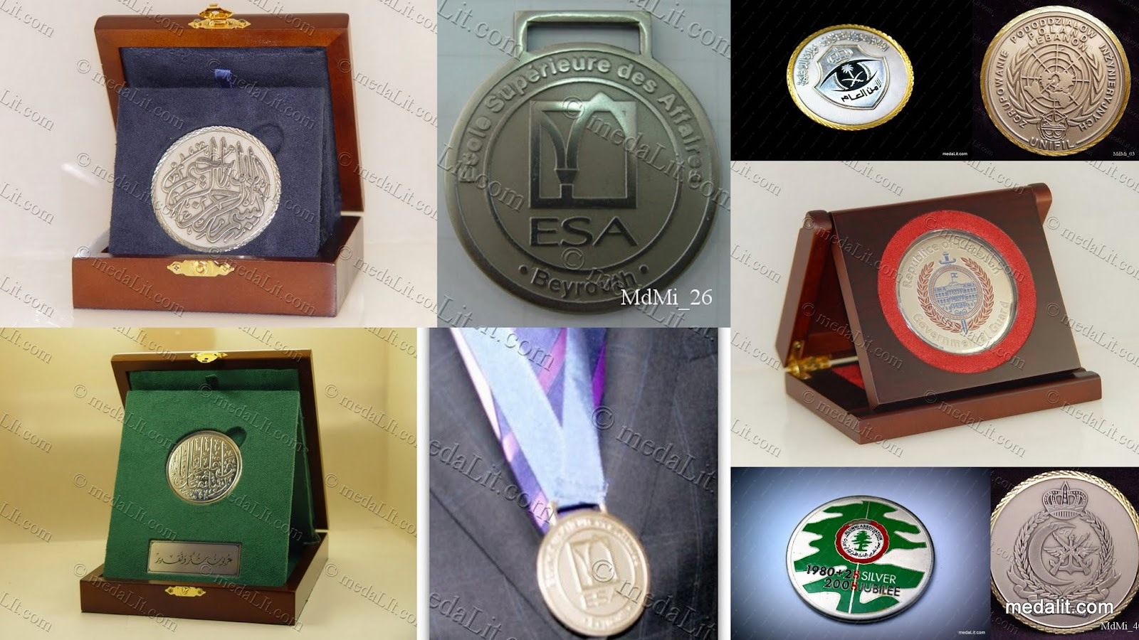 Absi Silver-Plated Medals