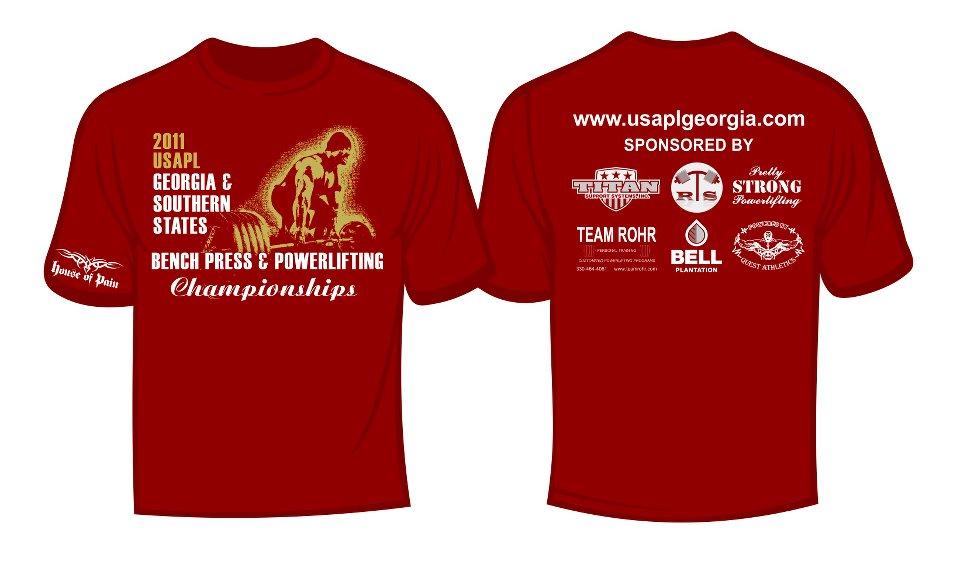 Georgia powerlifting t shirts usapl georgia usa for T shirt printing norcross ga