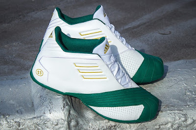lebron james adidas tmac i svsm home 01 Closer Look at the Adidas TMAC I St. Vincent St. Mary Edition