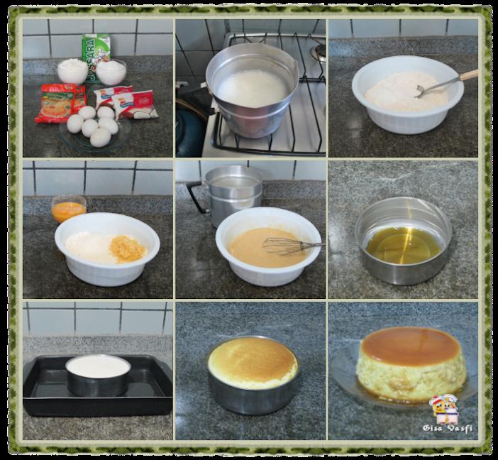 Pudim de padaria com queijo 2