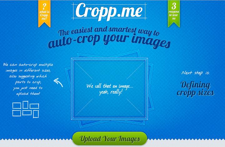 Recortar imágenes en línea de forma automática-Cropp.Me