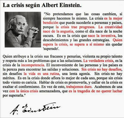 crisis según Albert Einstein