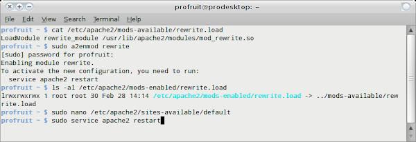 Активация на mod_rewrite в Apache под Ubuntu