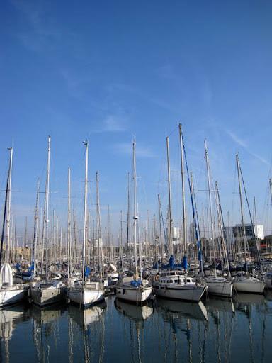 マリーナのヨット@バルセロナ
