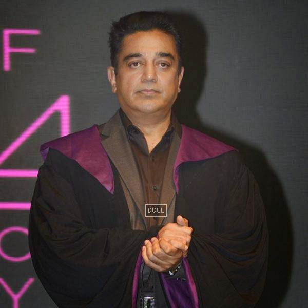 Kamal Hassan during Whistling Woods International's 7th Annual convocation in Mumbai. (Pic: Viral Bhayani)