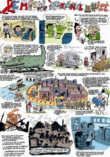 Bruselas Valonia: Guía en formato comic del museo regional de Visé