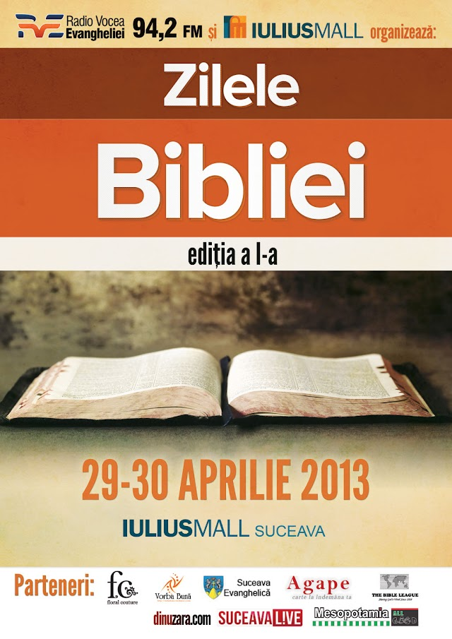 Zilele Bibliei la Iulius Mall Suceava