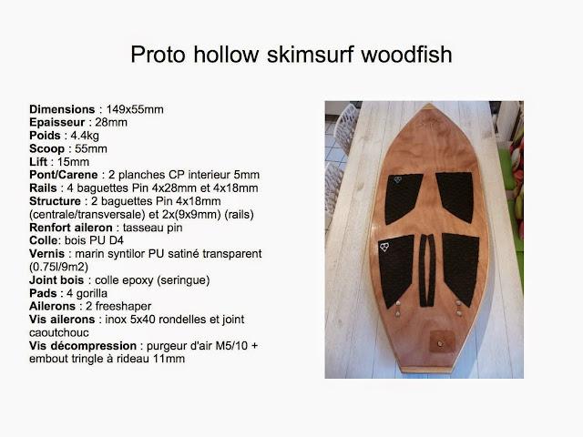 Skimsurf bois hollow home made Protoskim