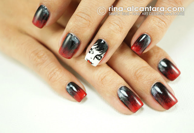 Dark Shadows Nail Art Design