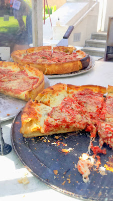 Portland Farmers Market PSU, Via Chicago, chicago style pizza