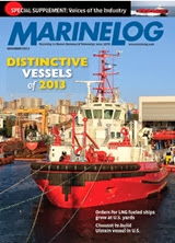 Marine Log 12/2013 cover -