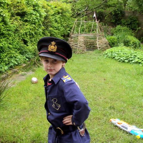 Politieagent met tuin