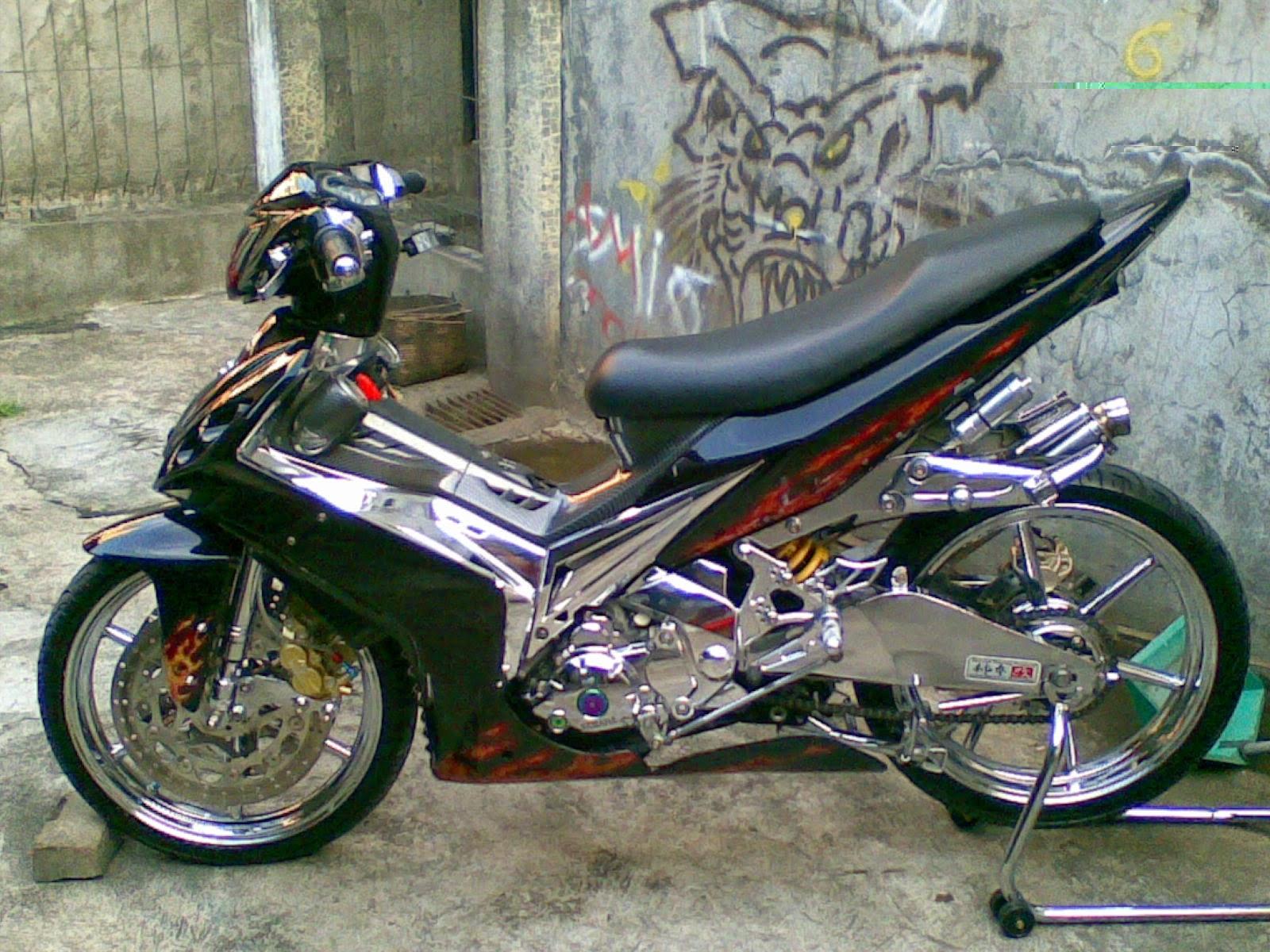 Koleksi Modifikasi Motor Jupiter Mx 2008 Hitam Terlengkap Dunia