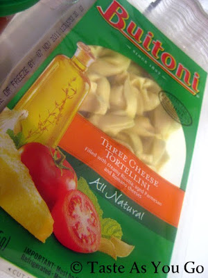 Buitoni Three Cheese Tortellini - Photo by Taste As You Go