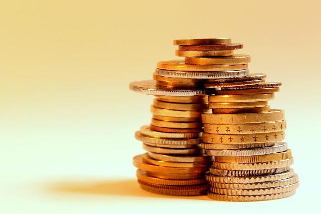 Pilha de moedas - stack of coins