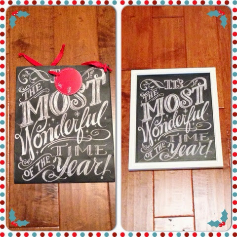 target chalkboard style gift bag in a frame