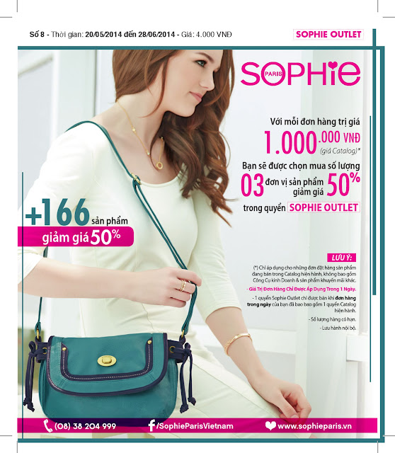 Sophie Outlet 08 khuyến mại 50% tháng 5/2014