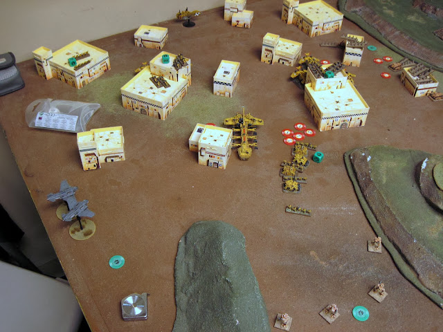 They win but break. The Storm troopers fall back. Sentinels double to screen the Mech Coy.