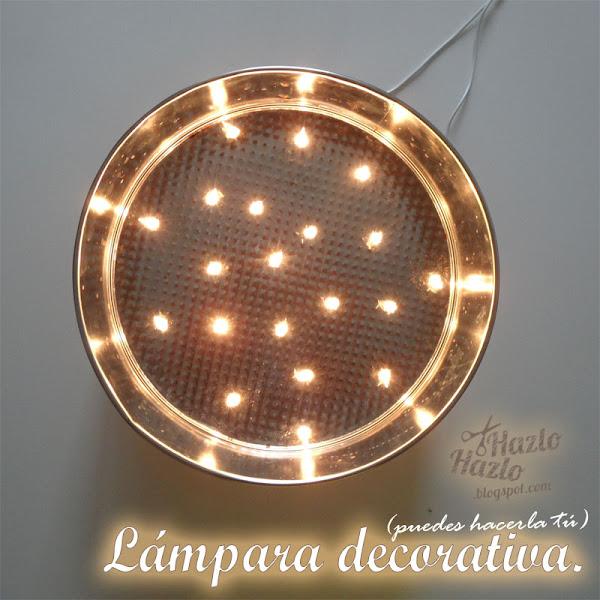 Lámpara decorativa hecha a mano.