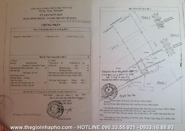 Bán nhà mặt tiền Điện Biên Phủ   Q. Bình Thạnh giá 5, 2 tỷ   NT143