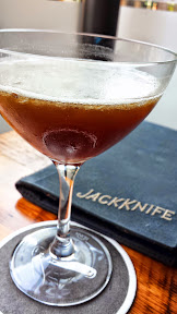 Jackknife PDX, their house cocktail option of Pavlov's Bell cocktail with vodka, espresso, coconut, cinnamon, vanilla salt was deeply satisfying with its rich flavors