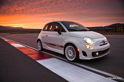 Fiat 500 Abarth on racetrack