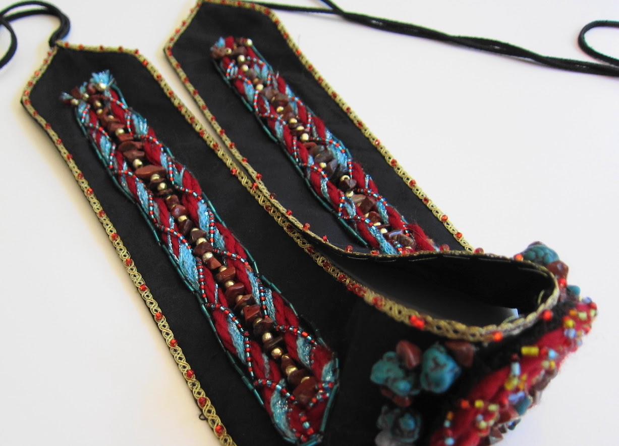Exquisite Beaded Belt with Poppy Jasper by Georgian Beauty
