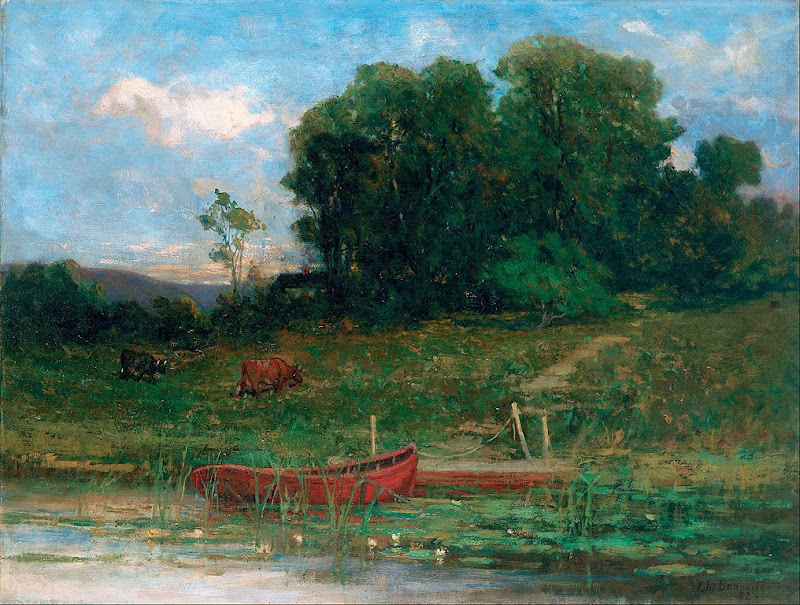 Edward Mitchell Bannister - The Farm Landing - Google Art Project.