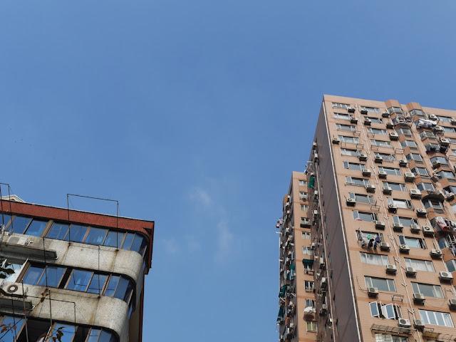 blueish sky in Shanghai