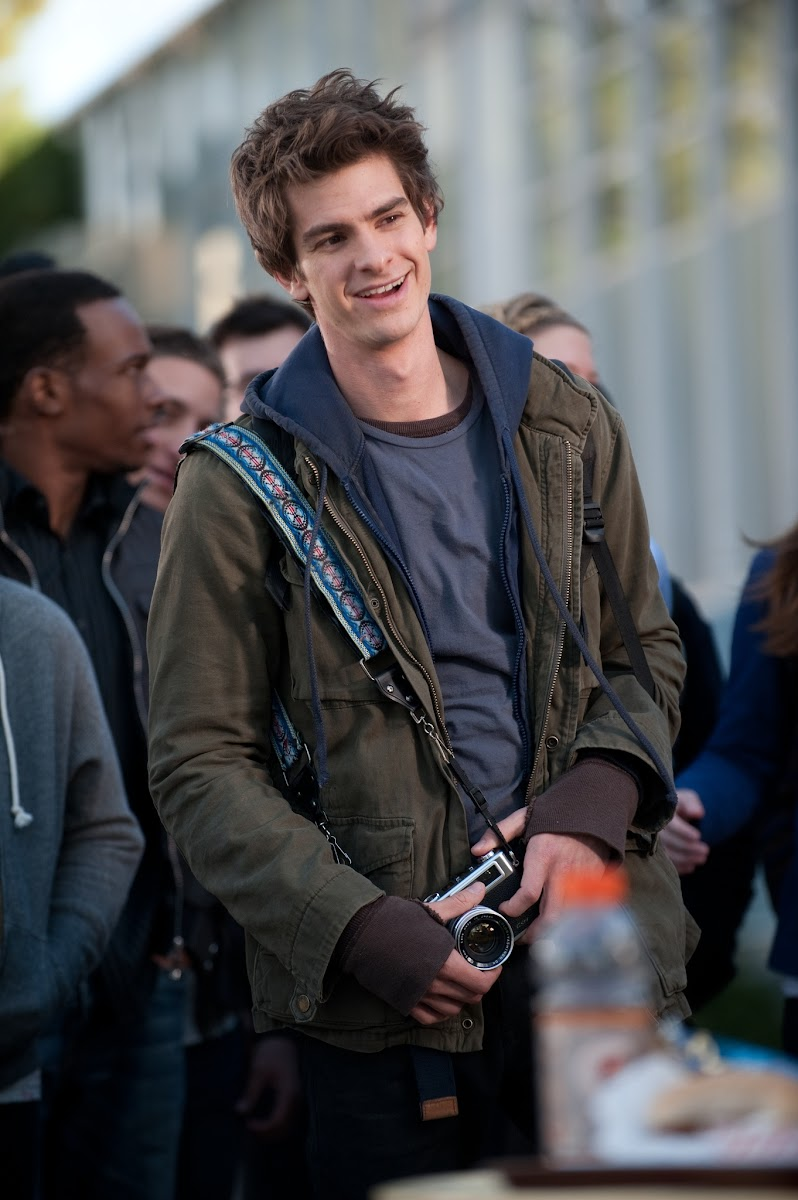 Andrew Garfield is Peter Parker in The Amazing Spider-Man