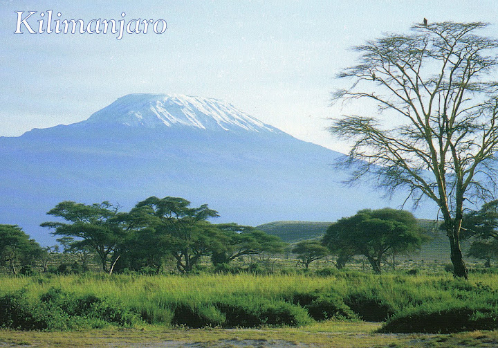 Vista del Kilimanjaro dal seminario di don B. Zamberlan