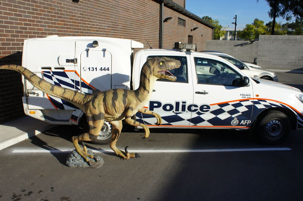 police and utahraptor