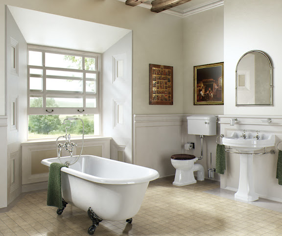 Modern Edwardian style bathroom fixtures