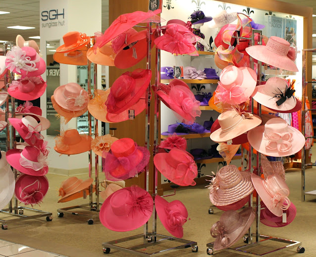 Pretty Spring and Kentucky Derby Hats at Macy's Flower Show Event