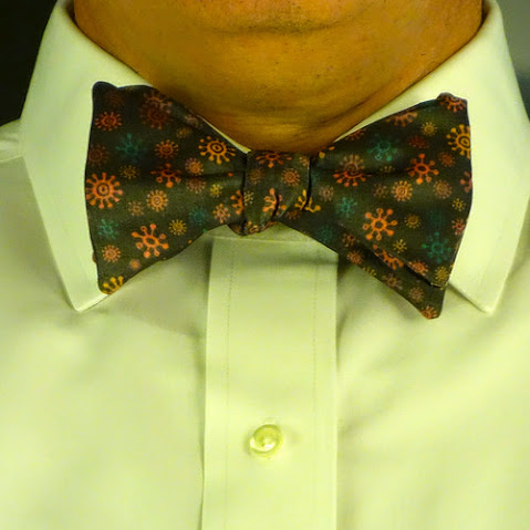 Serious Sirius Bowtie worn by a model