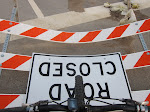 and as long as I'm photographing street signs...the road being closed never stops me on my bike