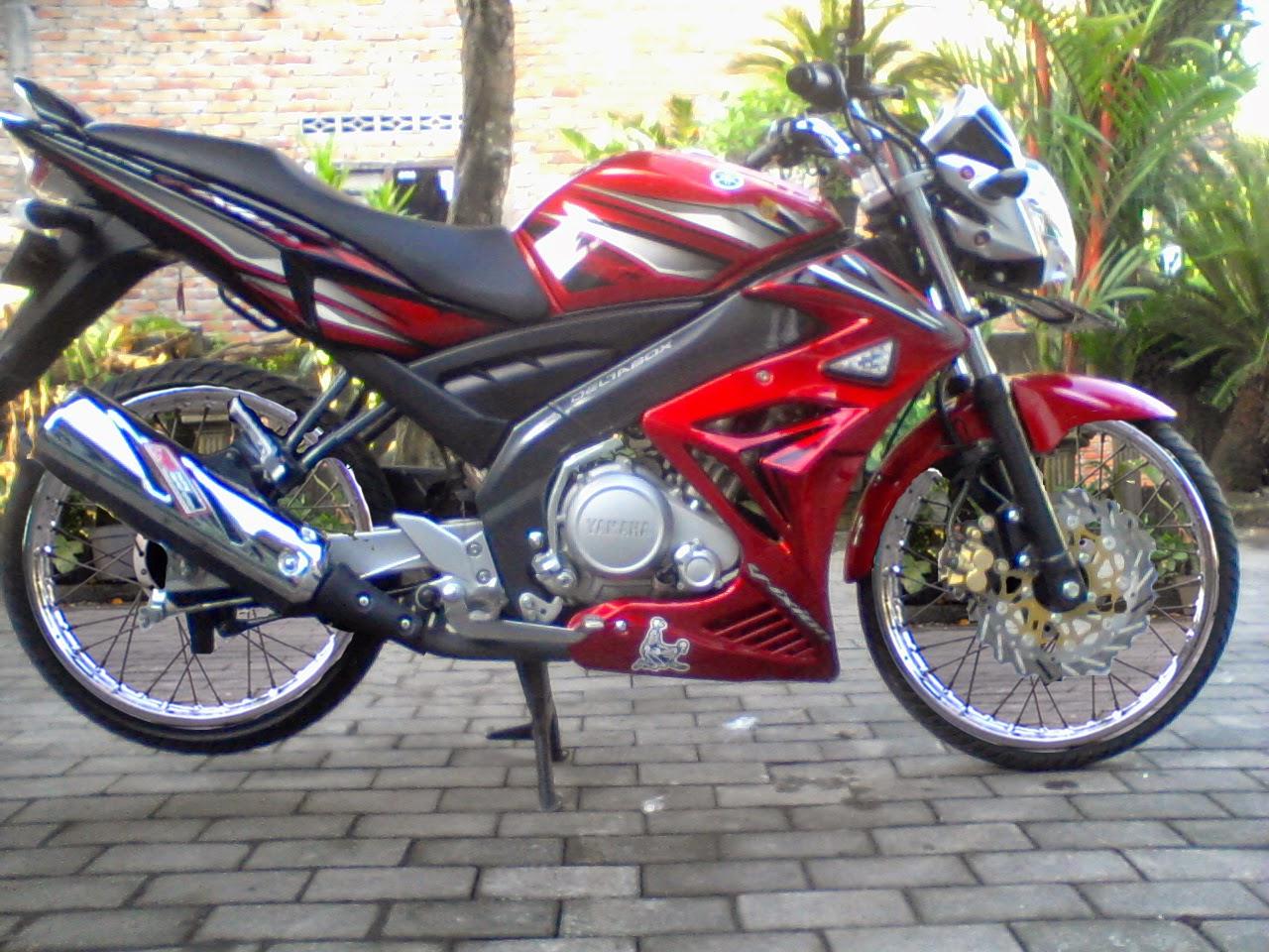 Download Kumpulan 69 Modif Motor Vixion Lama Warna Merah