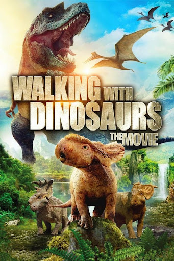 Film clip: 'walking with dinosaurs'.
