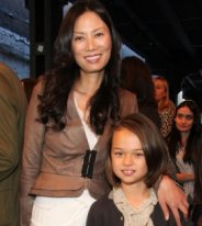 Wendi Deng and daughter Grace.