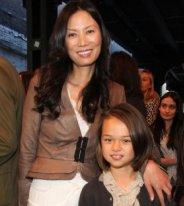 Wendi Deng and daughter Grace.