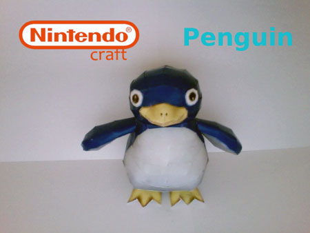 Super Mario Galaxy Penguin Papercraft