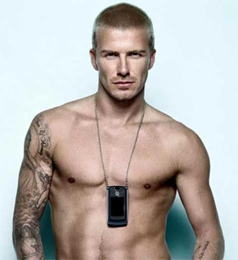 David Beckham, desnudo