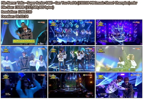 Download [Perf] Super Junior-D&E – Can You Feel it ...