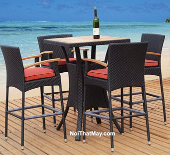 Outdoor Wicker Bar Set Minh Thy 807